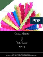 Menus Comuniones y Bautizos 2014
