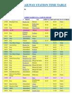 Ahmedabad Railway Station Time Table