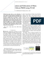 Characterization and Fabrication of 90nm_using_tcad