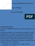 Capital , Revenue Expenditure and Income