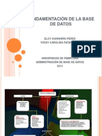 FUNDAMENTACIÓN DE LA BASE DE DATOS