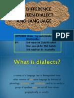 Dialect n Language