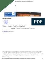 Ubuntu - Complete Wordpress Setup Guide _ Linux Tips, Wordpress _ How To
