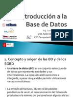 1. Introducción a la Base de Datos