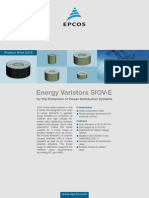 EPCOS Energy Varistors Protection Power DistribSystems