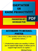Ways to Raise Productivity