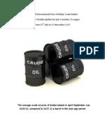 Crude Oil International Import Price of Indian Basket