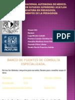 banco de fuentes de consulta especializada