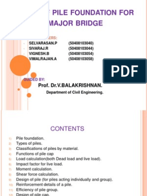 Design of Pile Foundation  Ppt | Deep Foundation