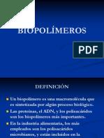 Producción de biopolimeros