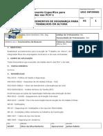 Pro-0001 - Procedimentos de Seguranca Para Trabalhos Em Altura