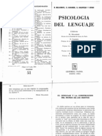 Psicologia Del Lenguaje Cassirer Ernst El Lenguaje en La Construccion Del Mundo de Los Objetos