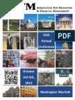 2013 ABFM Conference Agenda Book