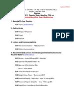 Niagara Falls School Board agenda - Sept. 26, 2013
