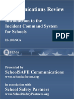 School Crisis Communications and ICS