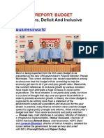 Of Reforms, Deficit and Inclusive Growth