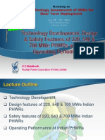 Technology Development, Design and Safety Features of PHWR and Their Operating Performance