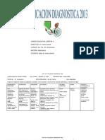 Plan de Evaluacion Diagnostica 2013 Agosto
