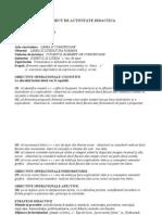 Proiect de Activitate Didactica-Lb.rom.Litera c