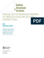Fatigue Life Extension by Peening of Welds in Hollow Section Connections PDF