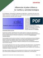 Proyecto Busca Diferenciar Polen Chileno Traves Valor Nutritivo Actividad Biologica