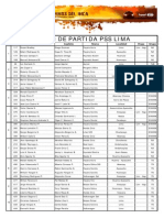 Lista de Participantes de Camino Del Inca