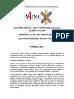 Convocatoria final - Encuentro nacional de culturas en red.pdf