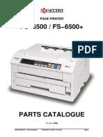 Kyocera FS-6500 Parts Manual