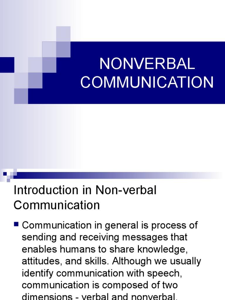 verbal and nonverbal communication