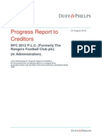 Rangers Progress Report 24 August 2012