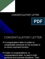 Report_ Congratulatory Letter
