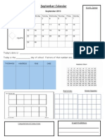 Calendar Page September