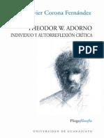 Theodor.W.Adorno. Individuo y autorreflexión crítica.