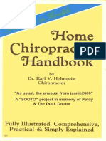 The Home Chiropractic Handbook. by Dr. Karl v. Holmquist
