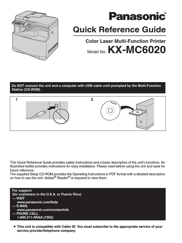 Panasonic Kxmc6020 Quick Guide Image Scanner Gateway Washing Machine Wiring Diagram Pdf Telecommunications