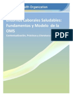 Entornos Laborales Saludables Fundamento y Modelo Oms