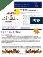 Nativity Scene Newsletter October 2013