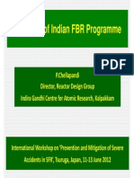 Overview of Indian Fast Breeder Nuclear Reactor Programme