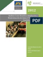 Análisis Costo Beneficio Ampliación y Modernización de Línea 1 Tren Ligero Guadalajara TLG-1