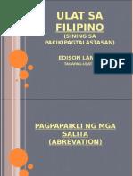 Filipino 1 Pagpapaikli Ng Mga Salita (Abrevyeysyon)