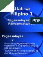 Filipino 1 Pagsasalaysay at Pangangatwiran