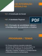 ÁREA DE INTEGRAÇÃO MÓDULO H3