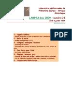 LAMPEA-Doc 2009 – numéro 23 / Lundi 6 juillet 2009