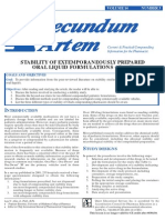 Stability of Extemporaneously Prepared Oral Liquid Formulations - Part V