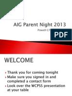 aig parent night