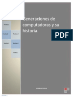 Generaciones de Computadoras y Su Historia