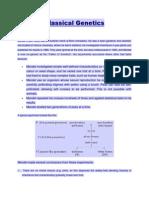Lecture 6 - Inheritance Variation Classical Genetics