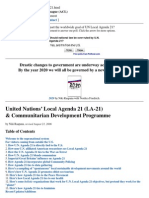 Agenda 21 - United Nations' Local Agenda 21 (LA-21)