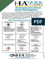 Osha SDS Quick Card Pictogram