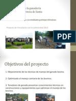 Mejoramiento de la ganadería bovina de la provincia